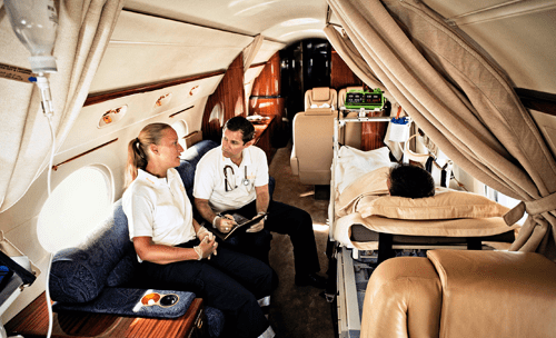 private medical plane UAE